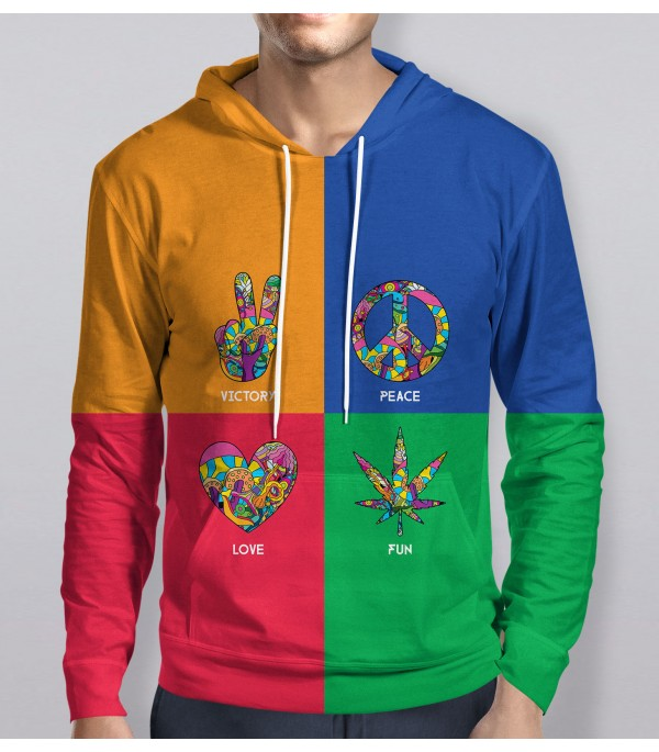 Multi Colored Hoodie