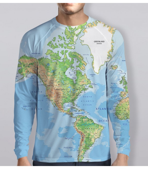 Blue Map Long Sleeves