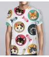 Full Body Print Cat T-Shirt